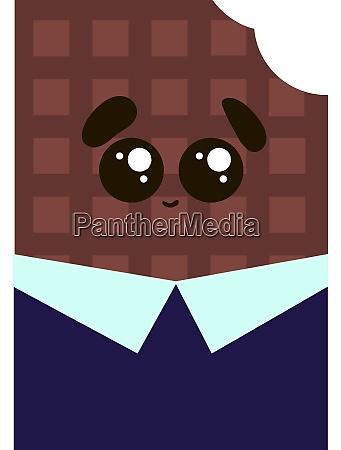 suesse schokolade im anzug illustration vektor