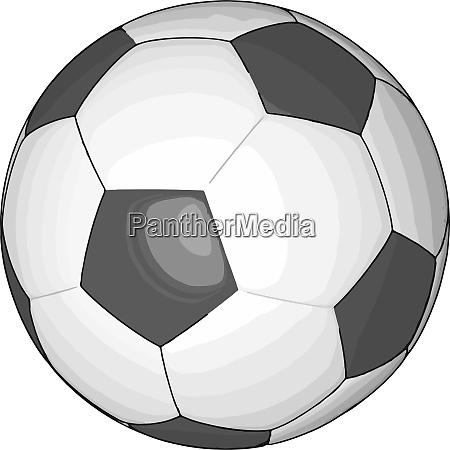 schwarz, und, weiß, fußball-vektor-illustration, auf, weißem - 27493255