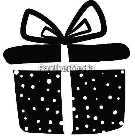 a beautiful black and white polka