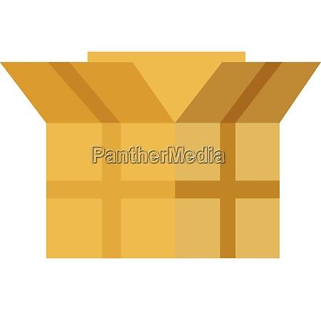 an open rectangular brown cardboard box