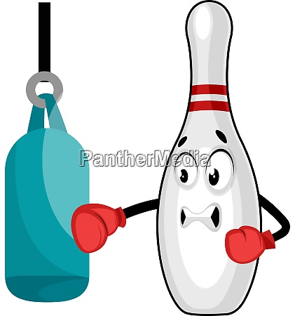 bowling pin boxing illustration vector on