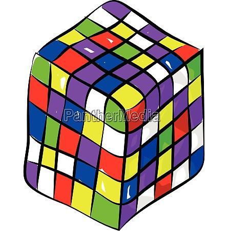 rubik wuerfel ein farbkombination puzzle genossen