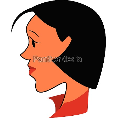 the side face of a woman