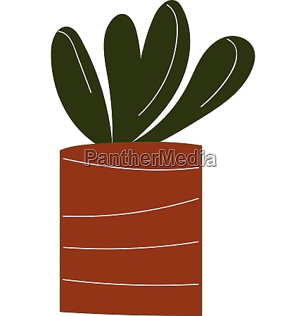 simple vector illustration of a plant