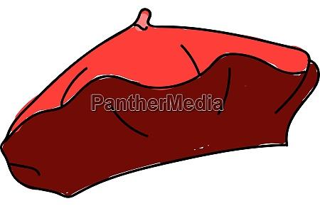 rote baskenmuetze illustration vektor auf weissem
