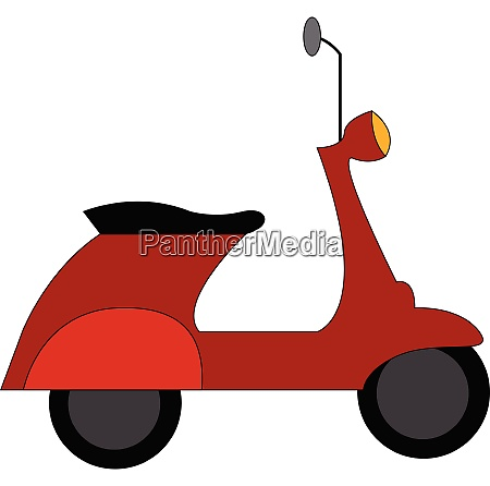 rote vespa scooter vektor illustration auf