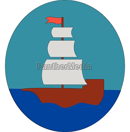 simple cartoon of a sailing ship