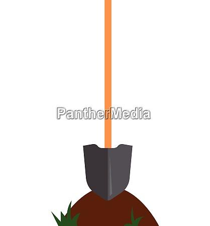 simple cartoon of a shovel vector