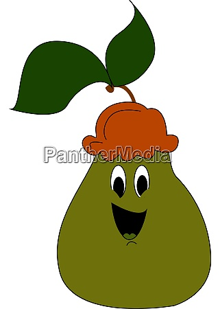 happy pear illustration vector on white