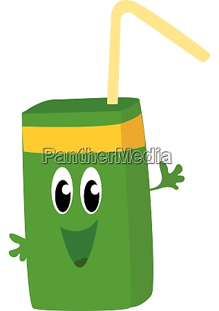 green natural juice illustration vector on