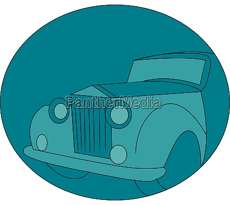 alte retro auto illustration vektor auf