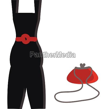 little black dress vector illustration on