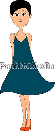 maedchen in high heels illustration vektor