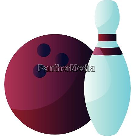 purple bowling ball and blue bowling