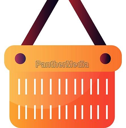orange bucket with purple handlers vector