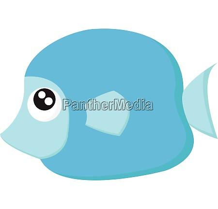 a pretty blue colored cartoon fish