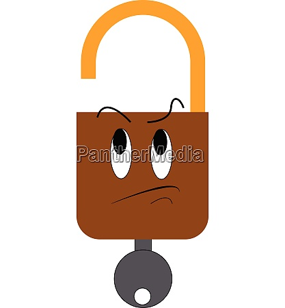 clipart of a brown lock and