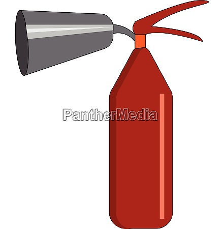 red colored fire extinguisher vector or