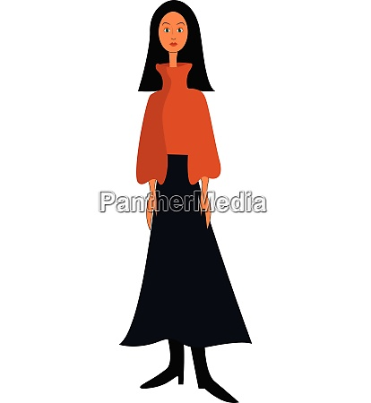 clipart of a girl with long