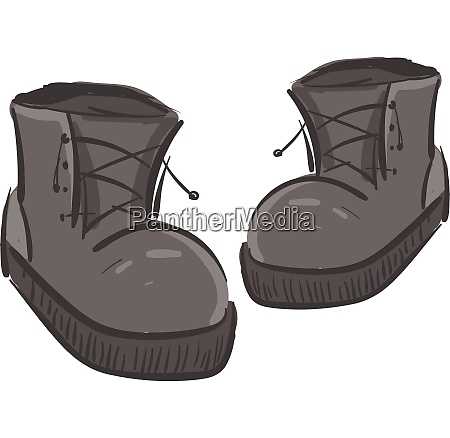 a pair of grey boots vector