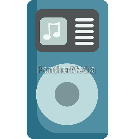blue ipod music player vector or