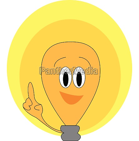 a brown colored cartoon light bulb