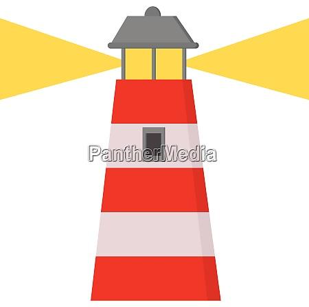 a cartoon lighthouse vector or color