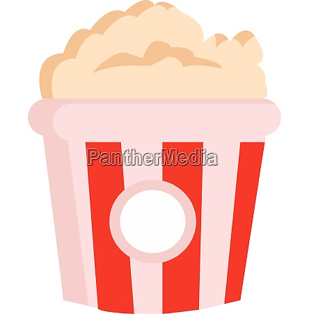 clipart of yummy popcorn in a