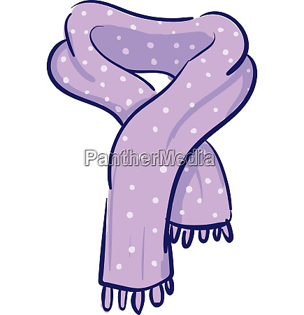 clipart of a purple scarf with