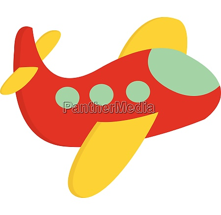 a cute little red airplane vector