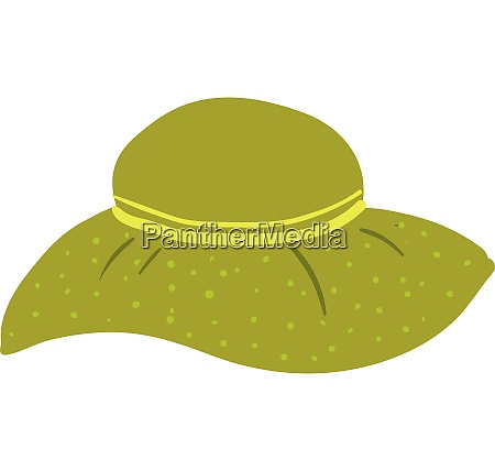 a green colored cartoon hat of