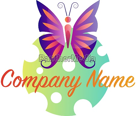 bunte logo vektor illustration einer buterfly