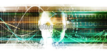 fortschrittliche technologie als it konzept