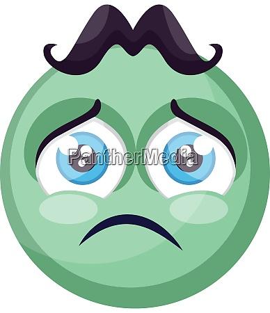 sad light green round emoji face