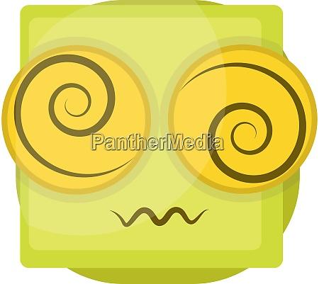 verwirrte gelbe emoji gesichtsvektor illustration auf