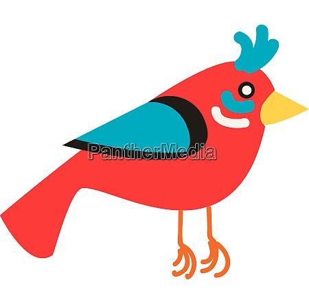roter vogel illustration vektor auf weissem