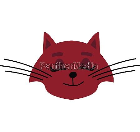 red cat illustration vector on white