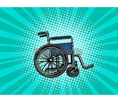 leeren rollstuhl menschliche gesundheit rehabilitation und