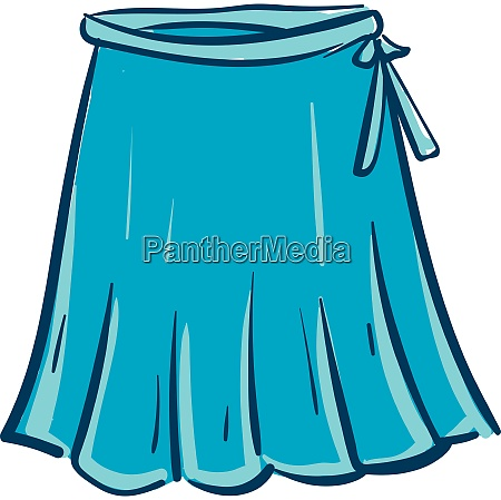 stylish blue skirt vector or color