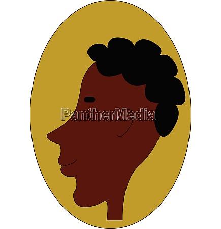 a dark boy with short black
