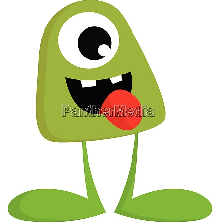 a green monster without hands vector