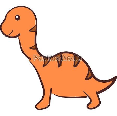 orange dinosaurier vektor oder farbe illustration