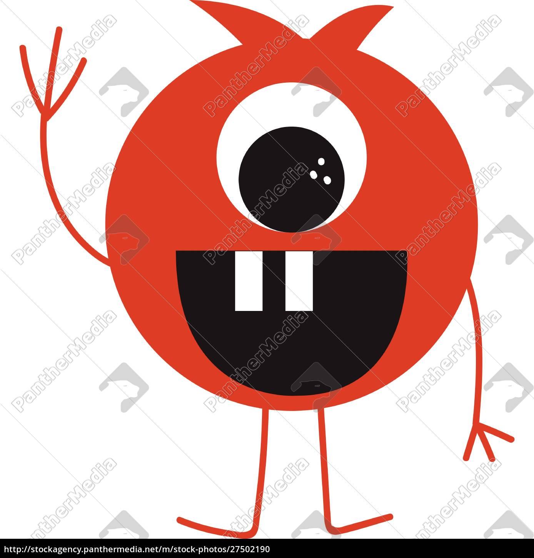 lustige, monster, vektor, oder, farbe, illustration - 27502190