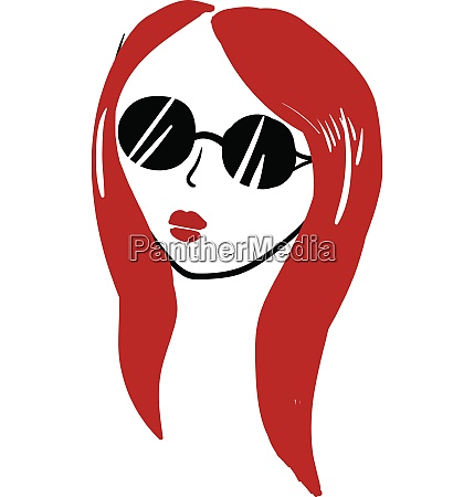 a girl in red hair wearing