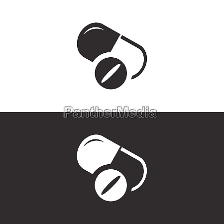 pills icon isolated image pharmacy and