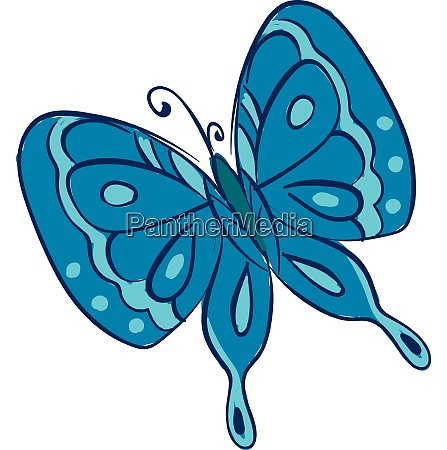 clipart of a blue butterfly vector