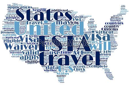vereinte staaten usa esta custom visa