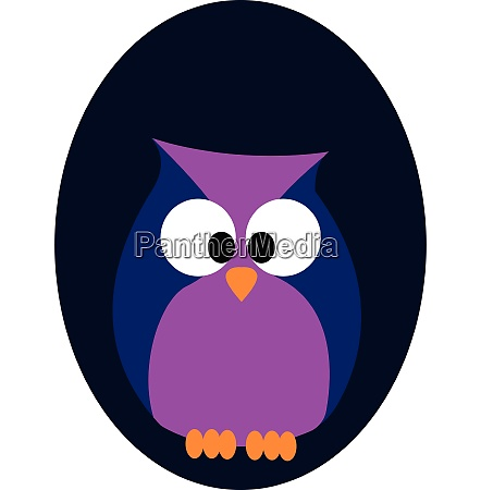 portrait of an owl over blue