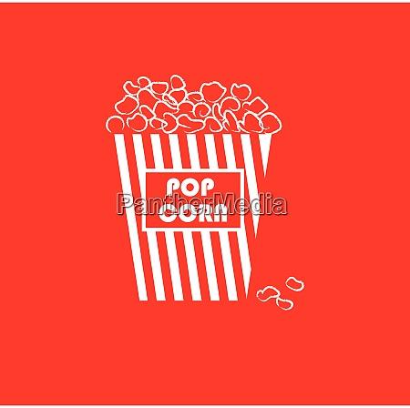 portrait of yummy popcorn in a