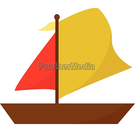 clipart of a boat in red